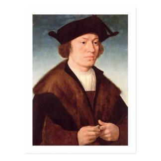 Cartão Postal Retrato de um homem desconhecido, 1520 (óleo no