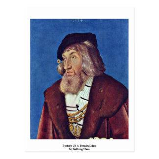 Cartão Postal Retrato de um homem farpado por Baldung Hans