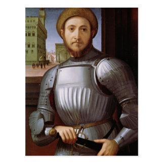 Cartão Postal Retrato de um homem na armadura
