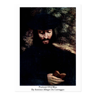 Cartão Postal Retrato de um homem por Antonio Allegri a