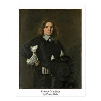 Cartão Postal Retrato de um homem. Por Frans Hals