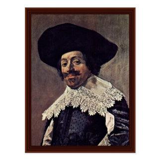 Cartão Postal Retrato de um homem., por Hals Frans