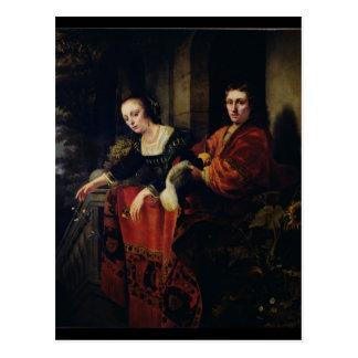 Cartão Postal Retrato de um marido e de uma esposa, 1654