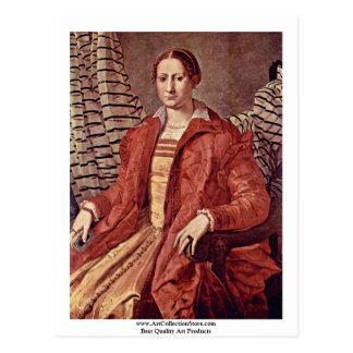 Cartão Postal Retrato de um Noblewoman   por Bronzino Angelo