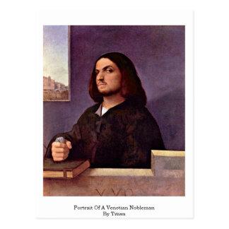 Cartão Postal Retrato de um nobre Venetian por Titian