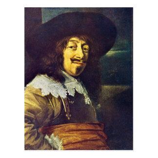 Cartão Postal Retrato de um oficial por Frans Hals