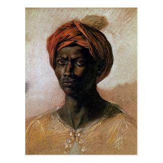 Cartão Postal Retrato de um turco em um turbante, c.1826