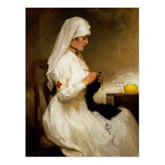 Cartão Postal Retrato de uma enfermeira da cruz vermelha