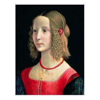 Cartão Postal Retrato de uma menina, c.1490