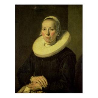 Cartão Postal Retrato de uma mulher, 1644