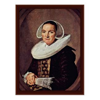 Cartão Postal Retrato de uma mulher de aproximadamente quarenta