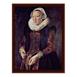 Cartão Postal Retrato de uma mulher de aproximadamente trinta