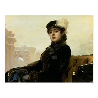 Cartão Postal Retrato de uma mulher desconhecida, 1883
