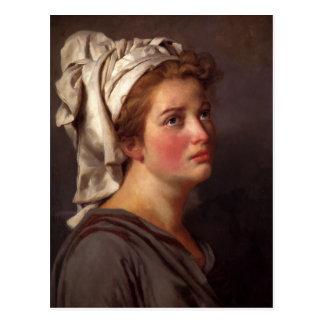 Cartão Postal Retrato de uma mulher em um turbante por Jacques