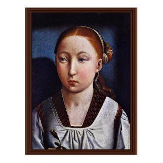 Cartão Postal Retrato de uma rapariga (Joanna o louco?) pelo