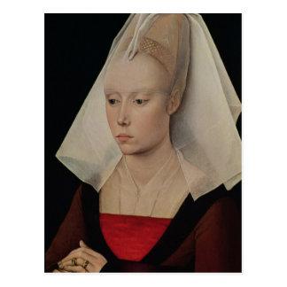 Cartão Postal Retrato de uma senhora, c.1450-60