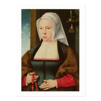 Cartão Postal Retrato de uma senhora desconhecida, 1527 (óleo no