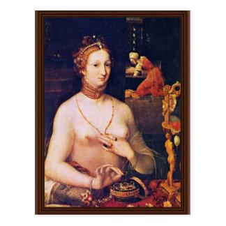 Cartão Postal Retrato de uma senhora Ela Toilette, por Meister