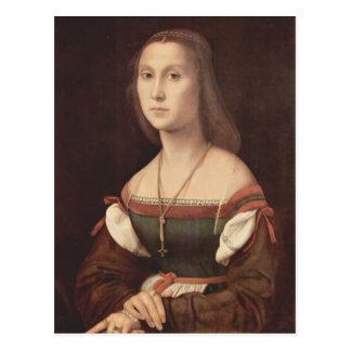 Cartão Postal Retrato de uma senhora (mudo) por Raphael