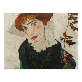 Cartão Postal Retrato de Wally por Egon Schiele
