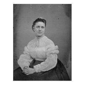 Cartão Postal Retrato desconhecido da era da guerra civil da