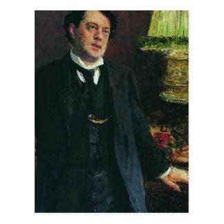 Cartão Postal Retrato do advogado Oskar Grusenberg por Ilya