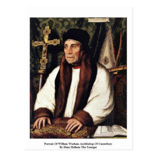 Cartão Postal Retrato do arcebispo de William Warham