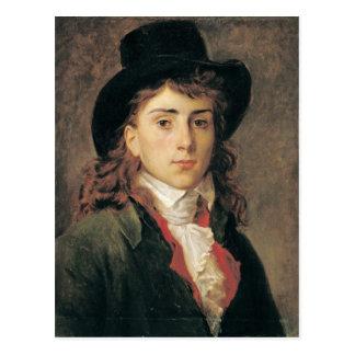 Cartão Postal Retrato do Baron Antoine Jean Gros envelhecido 20