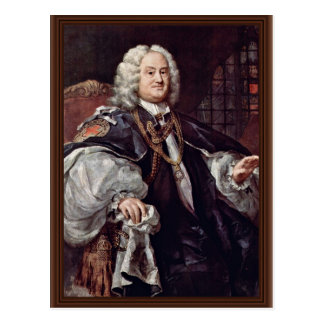 Cartão Postal Retrato do Bishop Benjamin Hoadly Hogarth