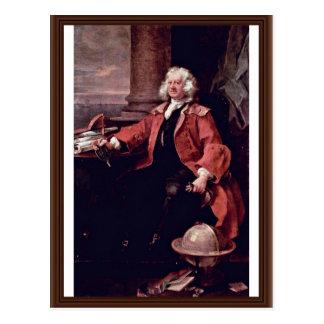 Cartão Postal Retrato do capitão Thomas Coram Hogarth