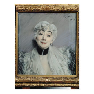 Cartão Postal Retrato do condessa de Martel de Janville