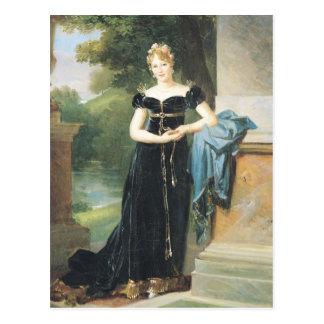 Cartão Postal Retrato do condessa Walewska de Marie Laczinska