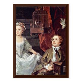 Cartão Postal Retrato do detalhe das crianças de Graham por