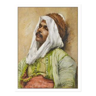 Cartão Postal Retrato do egípcio por Franz Kosler