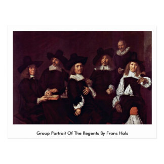 Cartão Postal Retrato do grupo dos regentes por Frans Hals