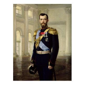 Cartão Postal Retrato do imperador Nicholas II, 1900