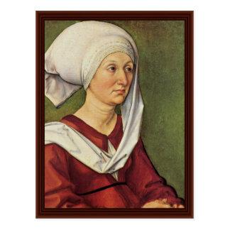 Cartão Postal Retrato do nascer Holper de Barbara Durer