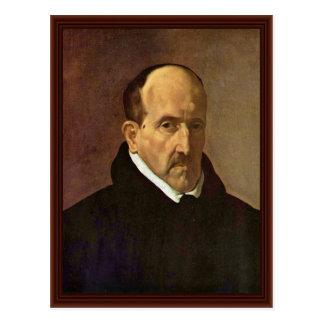 Cartão Postal Retrato do ³ Ngora Y Argote de Luis De Gã do poeta