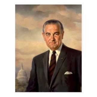 Cartão Postal Retrato do oficial de Lyndon Johnson