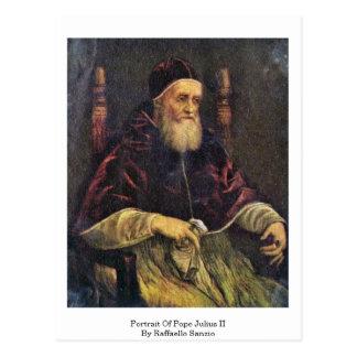 Cartão Postal Retrato do papa Julius Ii por Raffaello Sanzio