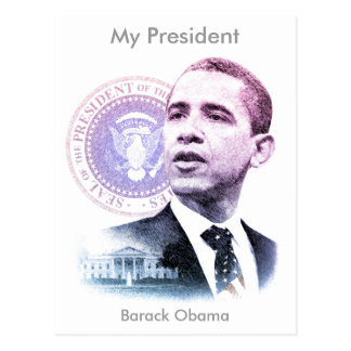 Cartão Postal Retrato do presidente Barack Obama