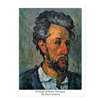 Cartão Postal Retrato do vencedor Chocquet por Paul Cezanne
