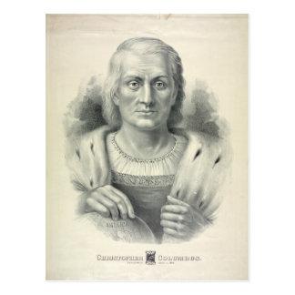 Cartão Postal Retrato do vintage de Cristóvão Colombo