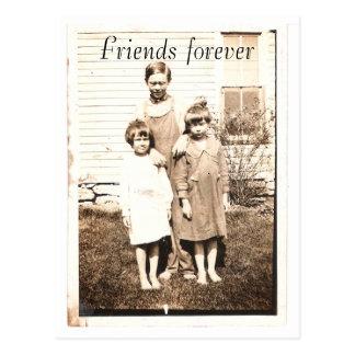 Cartão Postal Retrato do vintage dos irmãos e das irmãs