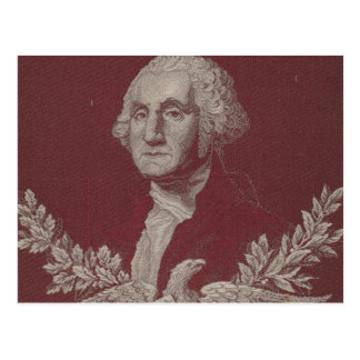 Cartão Postal Retrato dos EUA das listras das estrelas de George