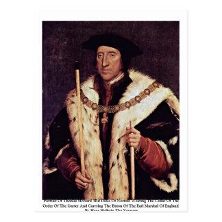 Cartão Postal Retrato duque Norfolk de Thomas Howard do ó