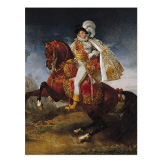 Cartão Postal Retrato equestre de Jerome Bonaparte 1808