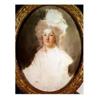 Cartão Postal Retrato inacabado de Marie-Antoinette
