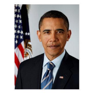 Cartão Postal Retrato oficial do presidente Barack Obama