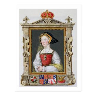 Cartão Postal Retrato rainha de Jane Seymour (c.1509-37) da ó de